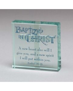 "TABLE GLASS-3""X3""-BAPTIZED IN"