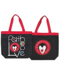 TOTE CANVAS FAITH HOPE LOVE