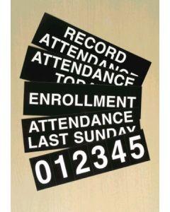 Register Board Slide And Numeral Set
