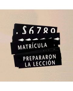Spanish Register Board Slide And Numeral Set