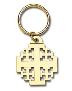 Jerusalem Cross Keyring
