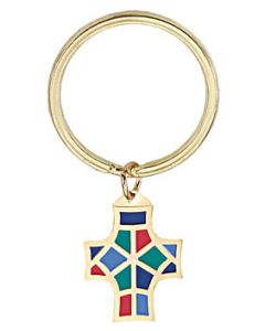 Monogram of Christ Key Ring