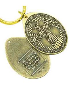 Catholic Guardian Angel Key Tag