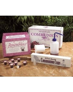 Remembrance Portable 6 Cup Set (Prefilled Communion