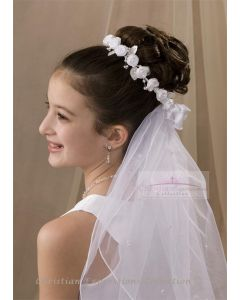 First Communion Wreath Veil-V808