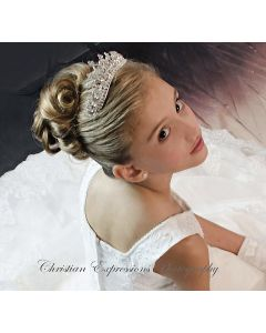 First Communion Rhinestone Crown Tiara