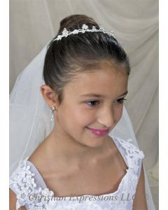 First Communion Irish Shamrock Tiara
