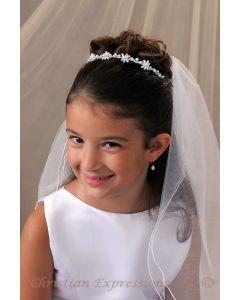 First Communion Pearl Hairband Veil