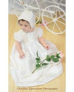 Serena Silk Christening Gown