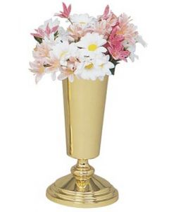 Solid Brass Church Altar Flower Vase