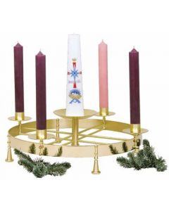 Church Advent Wreath Solid Brass