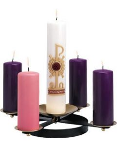 Wrought Iron Church Advent Wreath