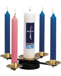 Wrought Iron Brass Church Advent Wreath