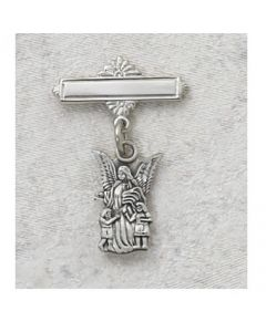 Guardian Angel Baptism Baby Bar Pin