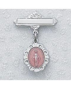 Miraculous Medal Baby Bar Pin Pin Enamel