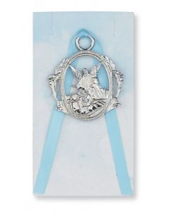 Guardian Angel Crib Medal Blue