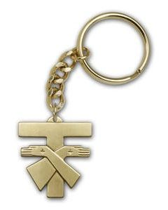 Franciscan Cross Keychain