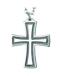 Flared Cross Pendant - Sterling Silver
