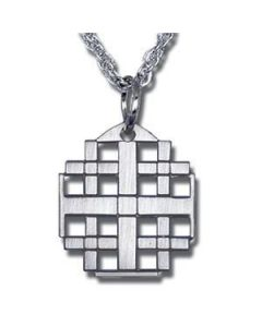 Jerusalem Cross Church Pendant