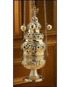 Ornate Church Censer with 12 Bells