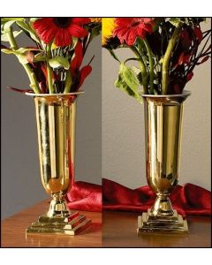 Altar Vases Set of Two Brass