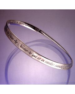 Lord's Prayer in Latin Christian Bangle Bracelet