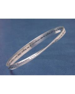 Lord's Prayer KJV Christian Bangle Bracelet