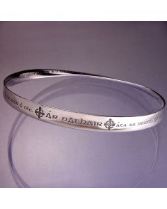 Lords Prayer in Gaelic Christian Bangle Bracelet