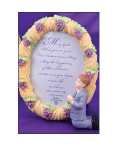 Resin Boy Communion Photo Frame
