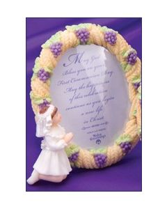 Resin Girl Communion Photo Frame