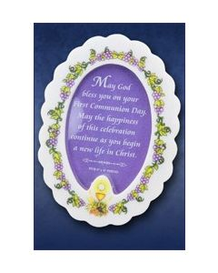 Communion Oval Resin Photo Frame