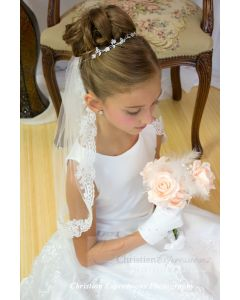 First Communion Lace Mantilla Veil