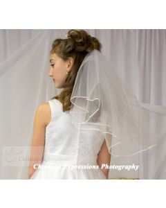 First Communion Veil White