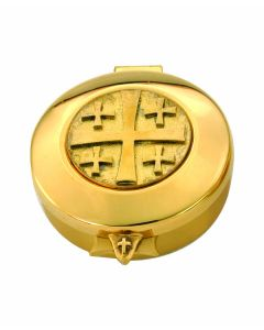 Communion Pyx with Jerusalem Cross 12 Cap