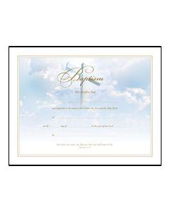 Baptism Certificate - Premium, Gold Foil Embossed