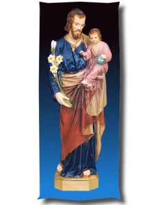 St. Joseph and Child Jesus Outdoor Statue Full Color