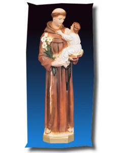 St. Anthony and Child Outdoor Statue Full Color