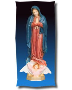 Our Lady of Guadalupe Outdoor Statue Full Color