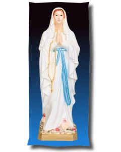 Our Lady of Lourdes Outdoor Statue Full Color