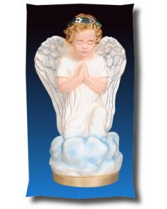 Kneeling Angel Outdoor Statue Full Color