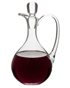 Glass Church Flagon for Altar Wine with Round Design 40 oz