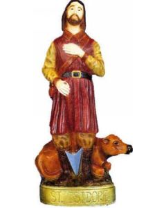 St. Isidore Outdoor Statue Full Color