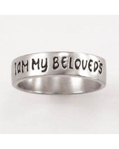 Men's Christian Wedding Band I am my beloved's Sterling Silver