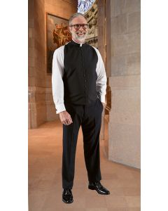 Wool Blend Roman Clergy Shirtfront Vest