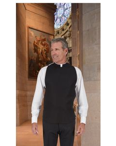 Wool Blend Washable Roman Clergy Shirtfront Vest