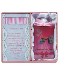 Baby Girl Baptism Water Bottle