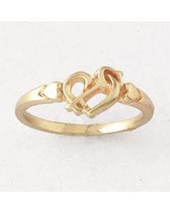 14k Gold Wedlock Christian Ring