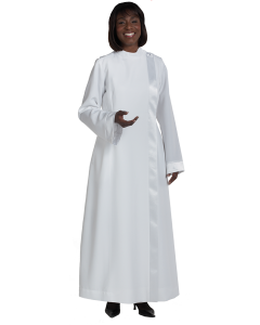 Women's Clergy Alb with Satin Banding