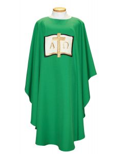 Alpha Omega Cross Clergy Chasuble