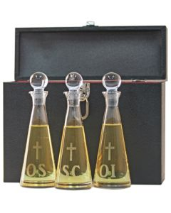 Ambry Set Hand-Cut Imported Crystal with Pouring Lip